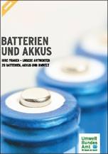 "UBA-Ratgeber ""Batterien und Akkus"""